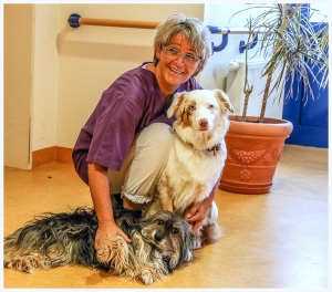 Barbara mit Hunden