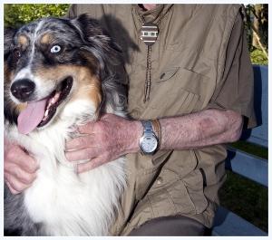 Bewohner mit Hund